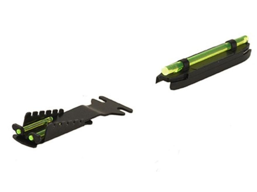HIVIZ Sight Set Beretta, Browning Field Shotguns Fiber Optic Green Rear, Interchangeabl...