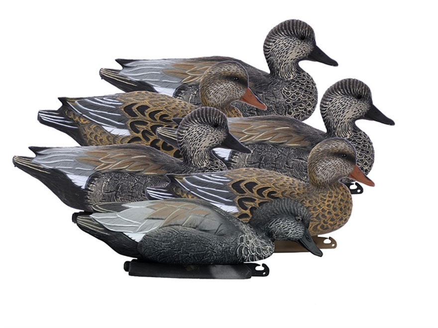 Higdon Battleship Foam Filled Gadwall Duck Decoy Polymer Pack of 6