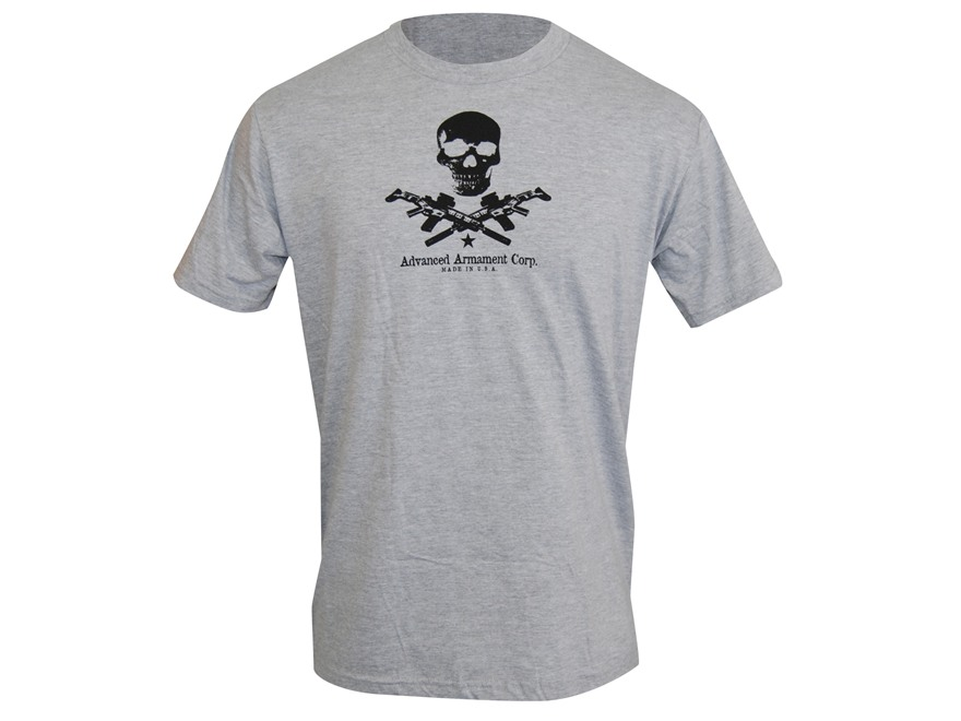 Advanced Armament Co (AAC) X-Guns Logo T-Shirt Short Sleeve Cotton Gray XL