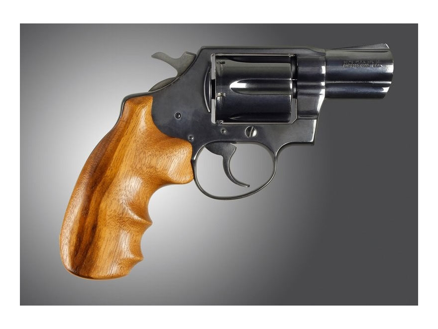 Hogue Fancy Hardwood Grips with Finger Grooves Colt Detective Special