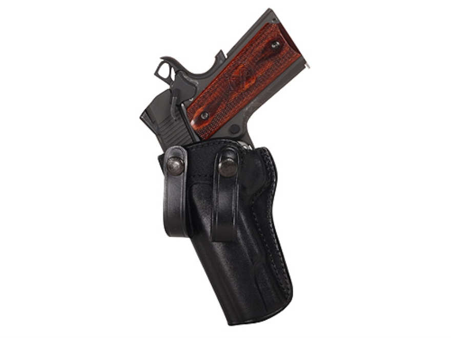 "Galco Summer Comfort Inside the Waistband Holster 1911 Officer 3"" Barrel Leather Black"