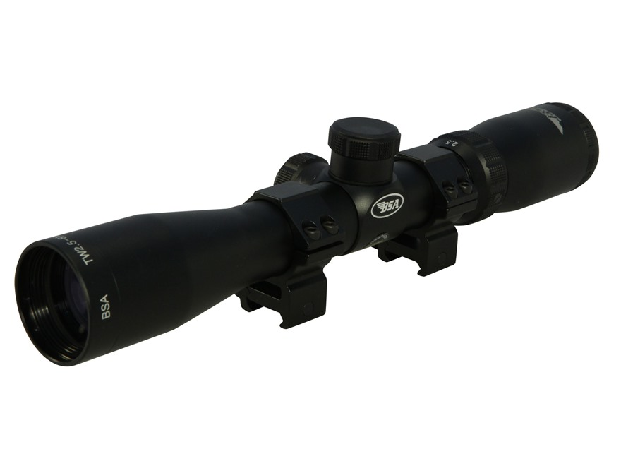 BSA Tactical Weapon Rifle Scope 30mm Tube 2.5-8x 36mm Mil-Dot Reticle Matte with Weaver...