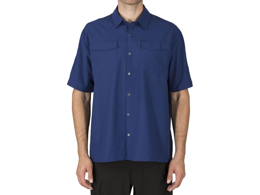 5.11 Men's Freedom Flex Button-Up Shirt Short Sleeve Polyester