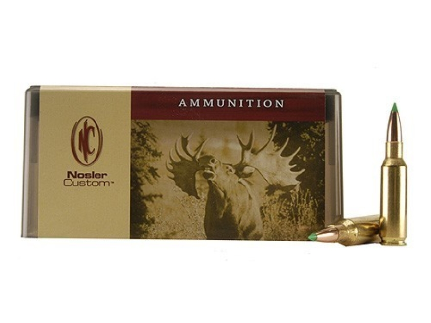 Nosler Custom Ammunition 300 Remington Short Action Ultra Magnum 165 Grain Ballistic Ti...