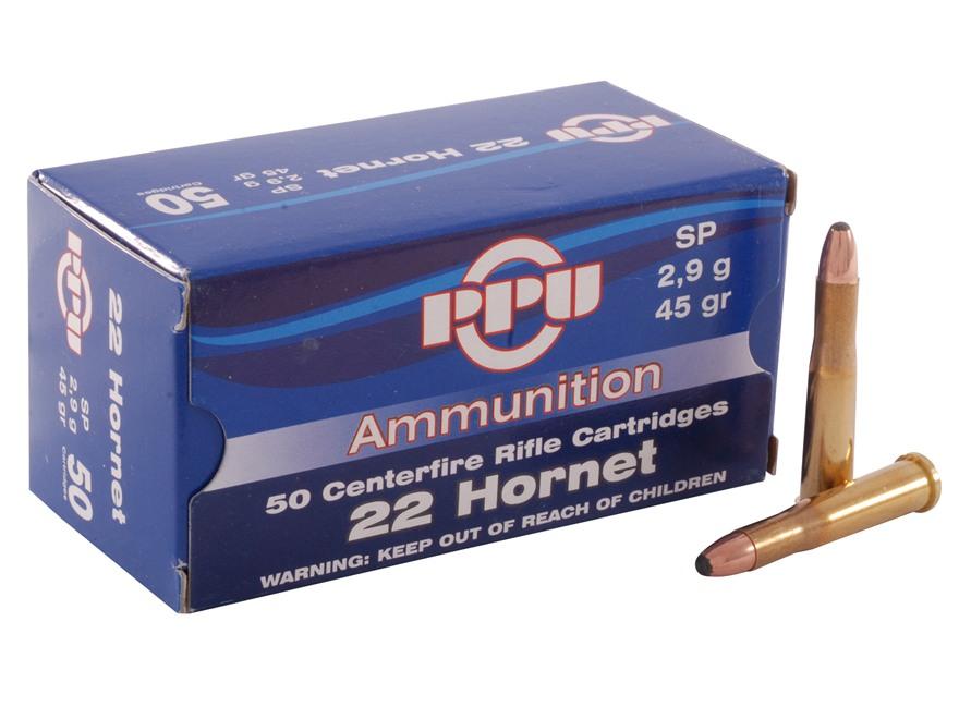 Prvi Partizan Ammunition 22 Hornet 45 Grain Soft Point Box of 50