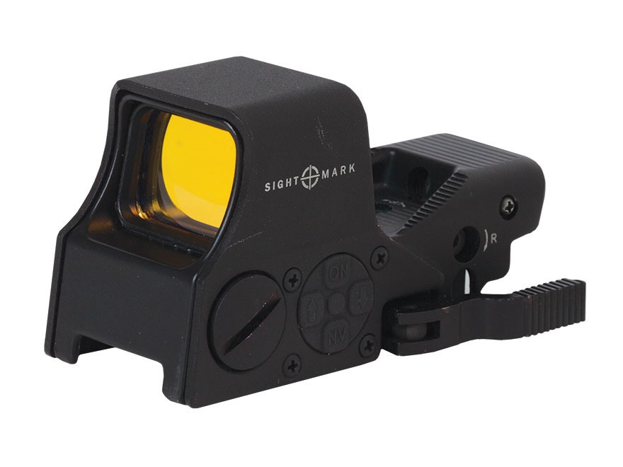 Sightmark Ultra Shot M-Spec Red Dot Sight 1x 65 MOA Circle Dot Crosshair (60 MOA circle...
