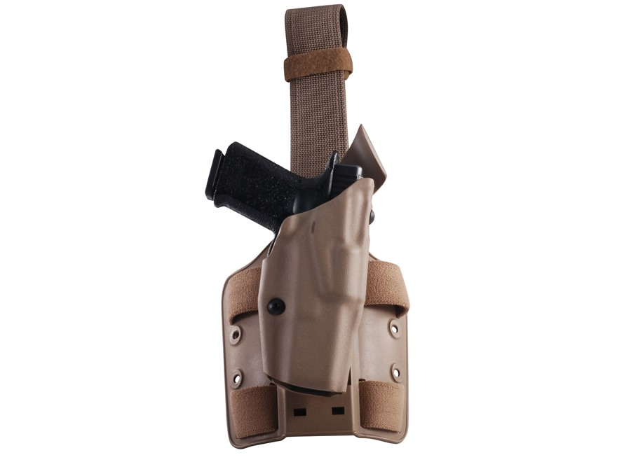 Safariland 6354 ALS Tactical Drop Leg Holster Right Hand Glock 17, 22, 31 Polymer Flat ...