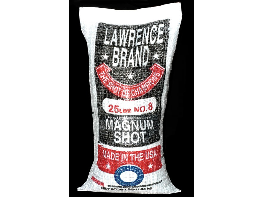 Lawrence Magnum Lead Shot #8 25 lb Bag