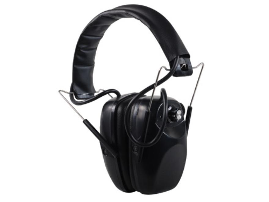 Hyskore Stereo Electronic Earmuffs (NRR 21 dB) Black