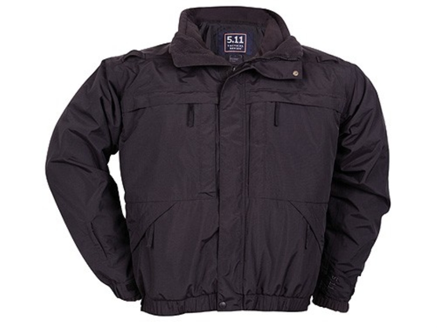 5.11 5-in-1 Tactical Jacket Waterproof Nylon Shell Windproof Polyester