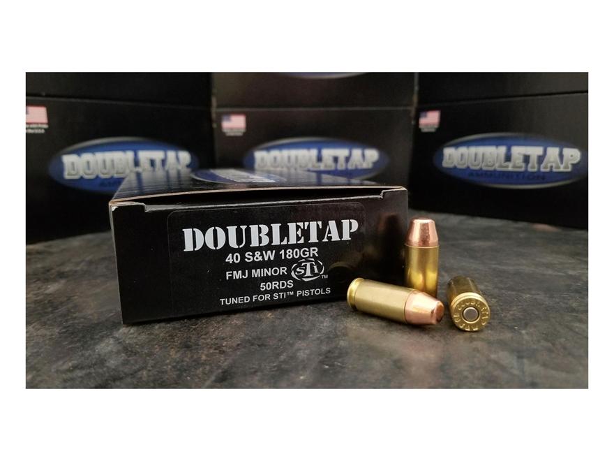 DoubleTap STI Ammunition 40 S&W Minor 180 Grain Full Metal Jacket Box of 50
