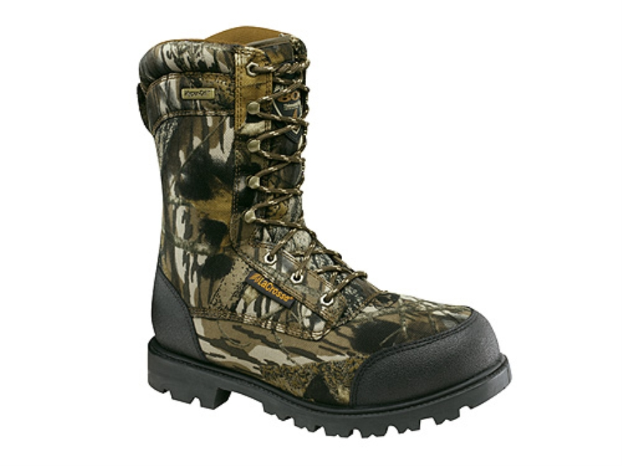 "LaCrosse Brawny II HD 10"" Waterproof 800 Gram Insulated Hunting Boots Nylon Mossy Oak B..."