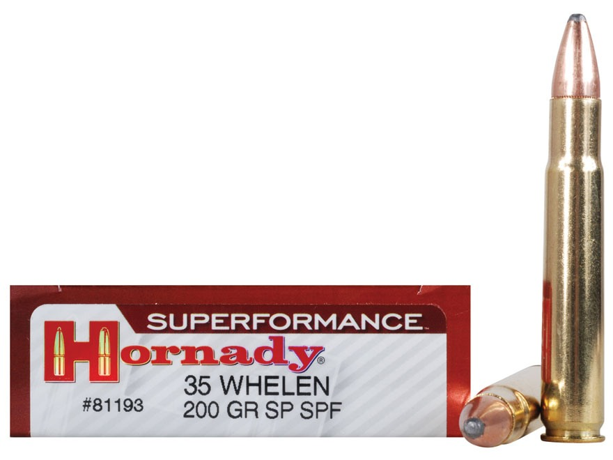 Hornady Superformance Ammunition 35 Whelen 200 Grain Soft Point Box of 20