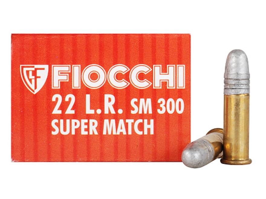 Fiocchi Exacta Pistol Super Match Ammunition 22 Long Rifle 40 Grain Lead Round Nose