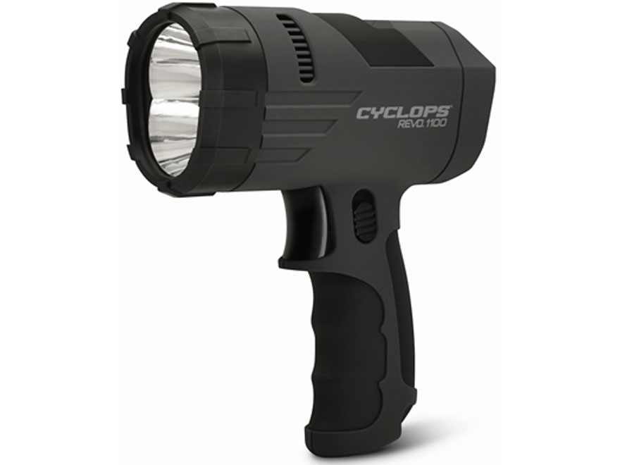 Cyclops REVO 1100 Handheld Spotlight LED with Rechargeable Battery Polymer Black