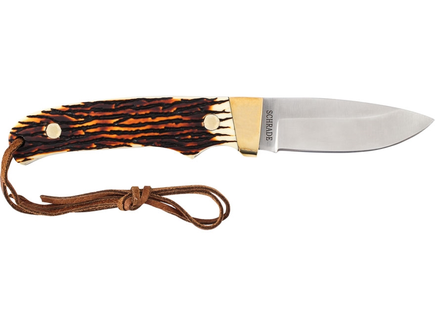 """Uncle Henry Mini Pro Hunter Fixed Blade Hunting Knife 2.76"""" Drop Point Cr17MoV High Car..."""