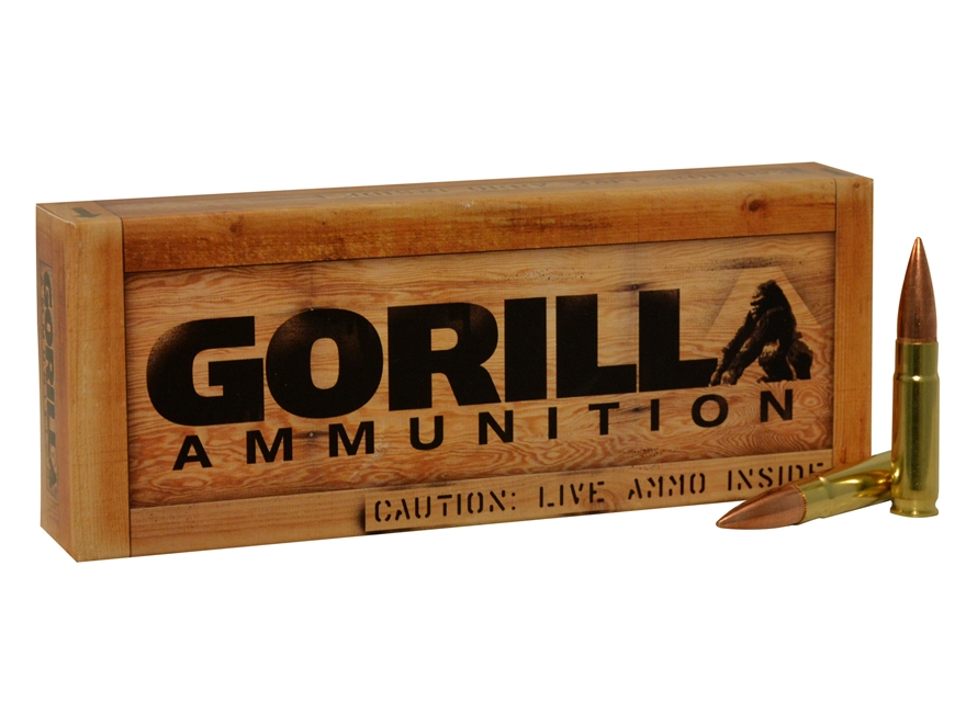 Gorilla Ammunition 300 AAC Blackout 147 Grain Full Metal Jacket