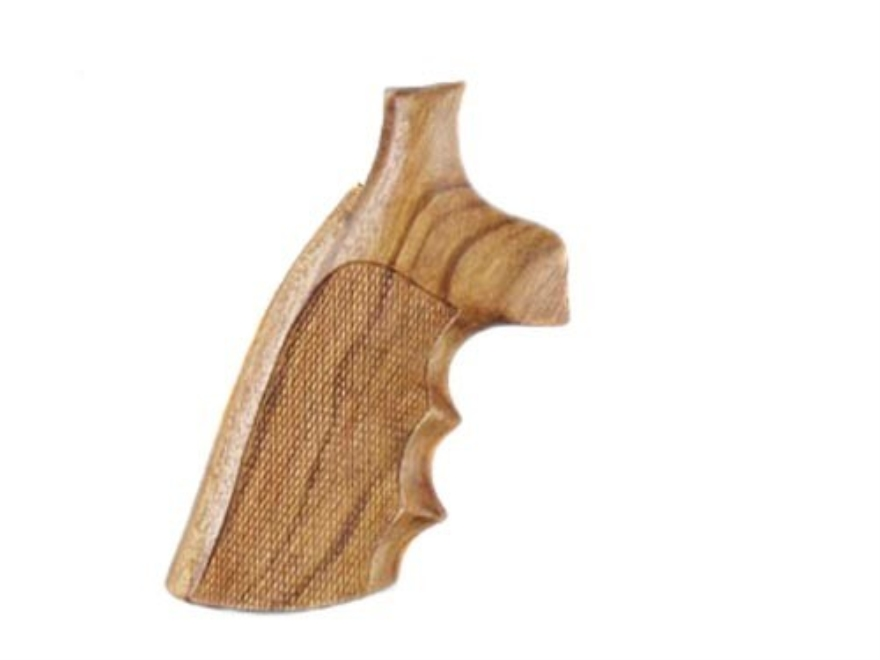 Hogue Fancy Hardwood Grips with Finger Grooves Colt Python Checkered