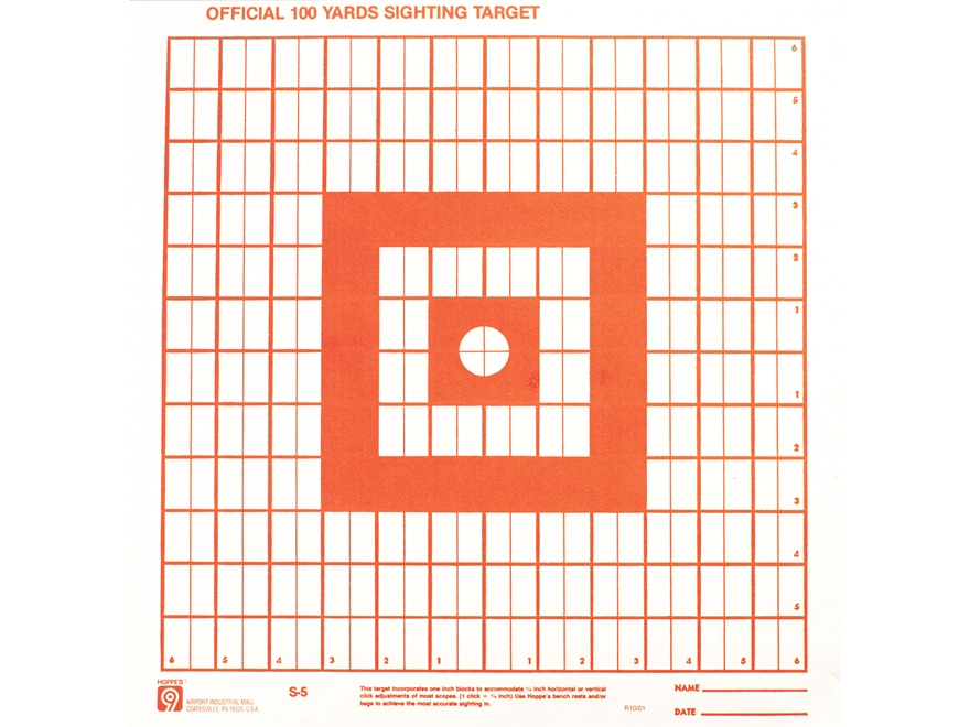 "Hoppe's Target 14"" x 14"" Sighting-In Pack of 20"