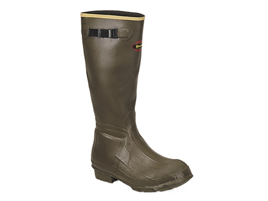 "LaCrosse Burly Classic 18"" Waterproof Hunting Boots Rubber OD Green Men's"