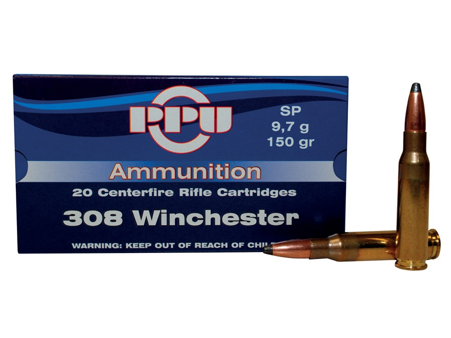 Prvi Partizan Ammunition 308 Winchester 150 Grain Soft Point Box of 20