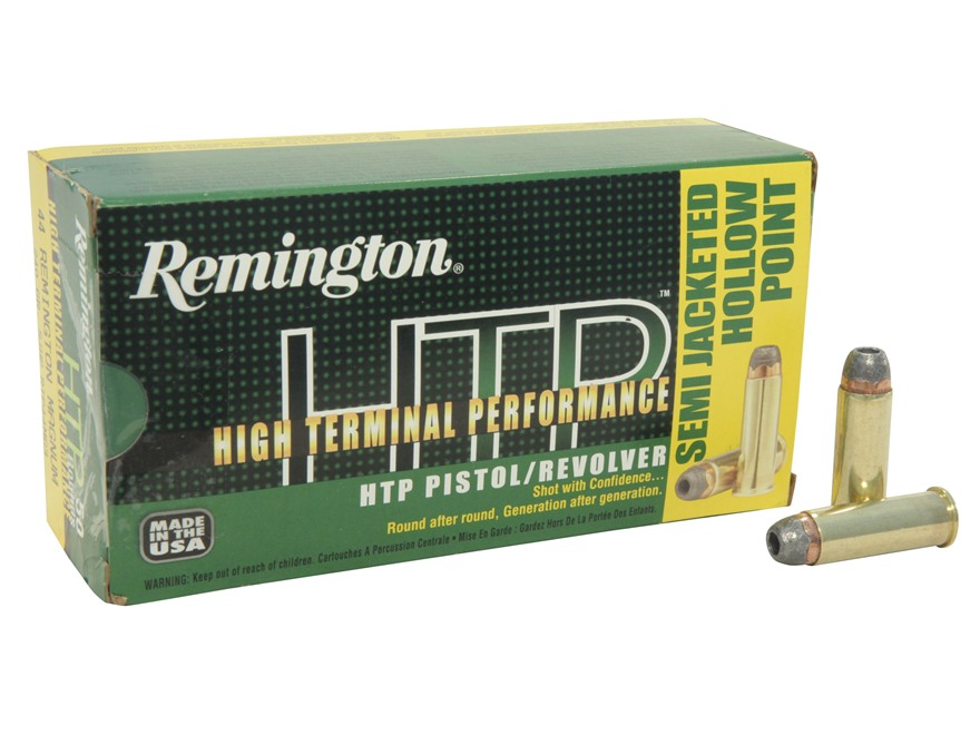 Remington High Terminal Performance Ammunition 44 Remington Magnum 240 Grain Semi-Jacke...