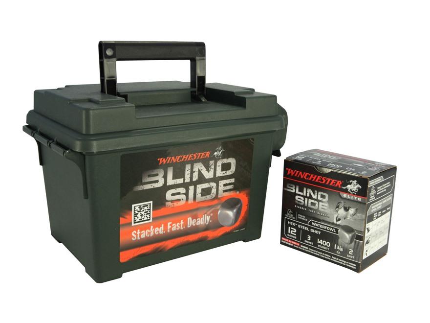 "Winchester Blind Side Ammunition 12 Gauge 3"" 1-3/8 oz #2 Non-Toxic Steel Shot Ammunitio..."