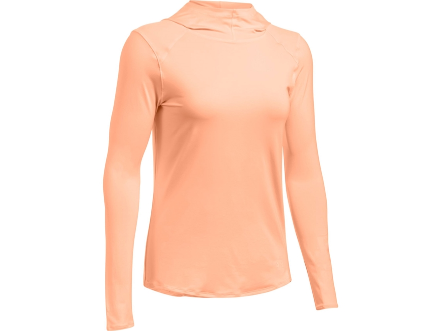 Under Armour Women's UA Sunblock Hoodie Polyester Playful Peach Large