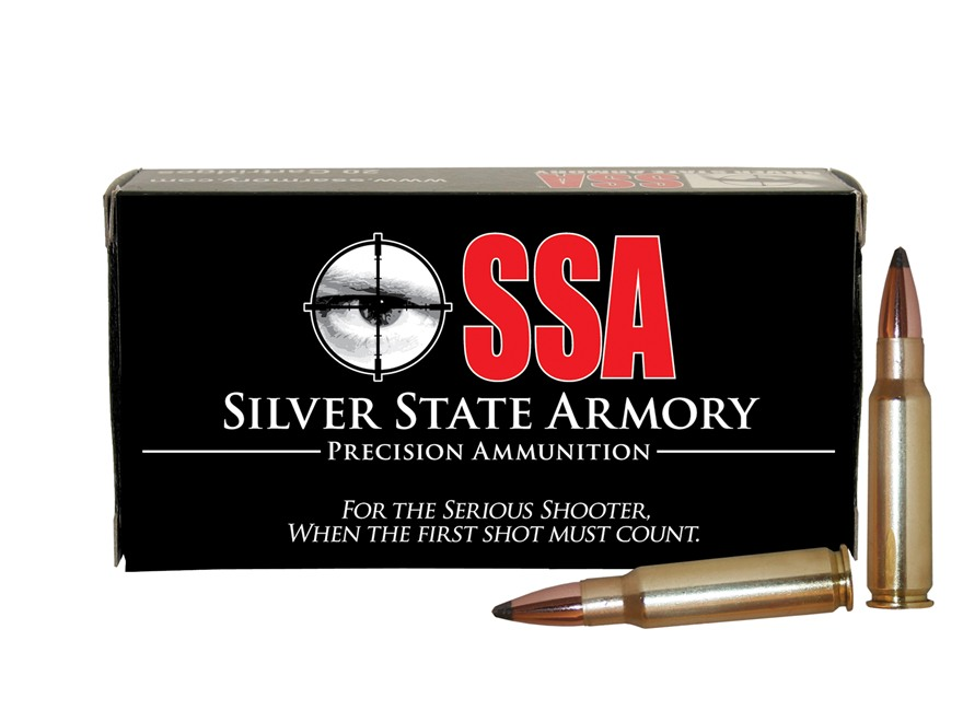 Silver State Armory Ammunition 6.8mm Remington SPC 110 Grain Sierra Pro-Hunter Tactical...