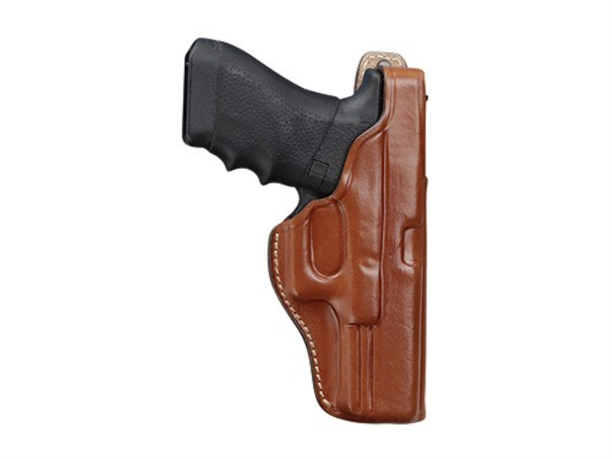 Hunter 4800 Pro-Hide Paddle Holster Right Hand 1911 Commander Leather Brown