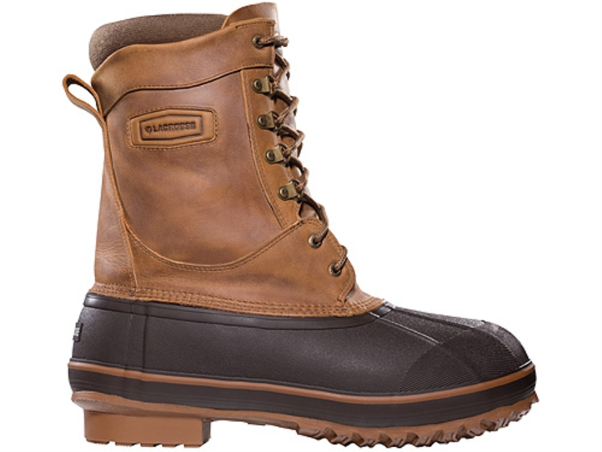 """LaCrosse Ice King 10"""" Waterproof 400 Gram Insulated Hunting Boots Leather and Rubber"""