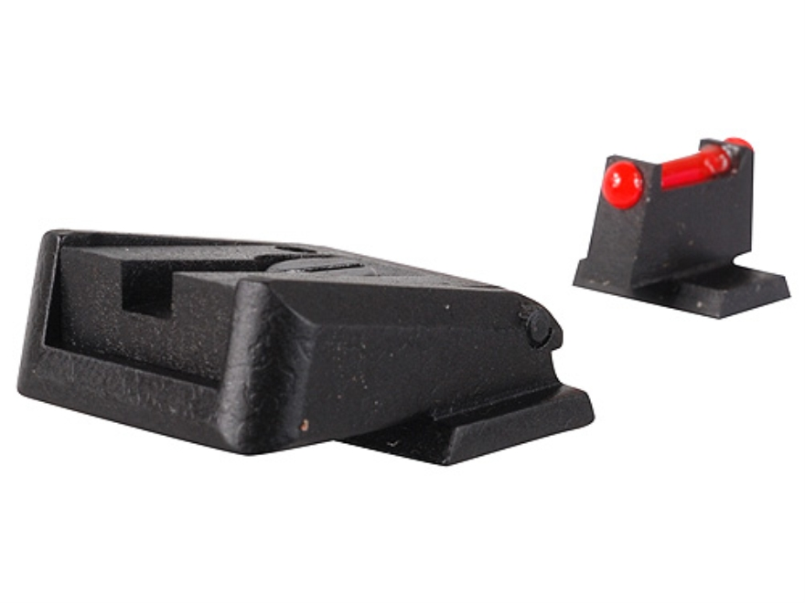 Novak Competition Sight Set S&W M&P Adjustable Black Rear with Red Fiber Optic Front