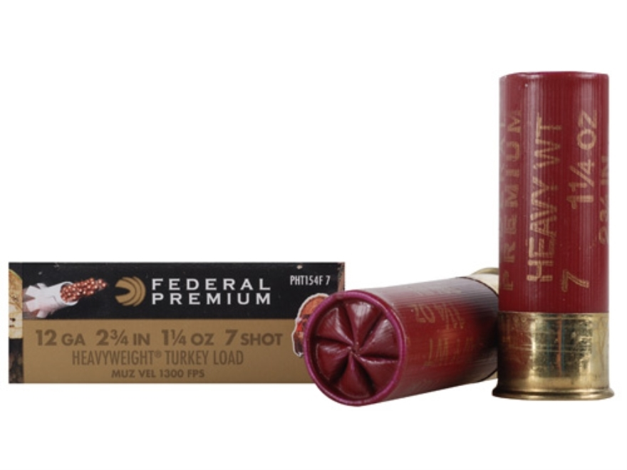"Federal Premium Mag-Shok Low Recoil Turkey Ammunition 12 Gauge 2-3/4"" 1-1/4 oz #7 Heavy..."