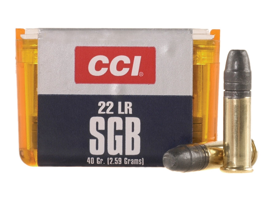 CCI SGB Ammunition 22 Long Rifle 40 Grain Lead Truncated Cone