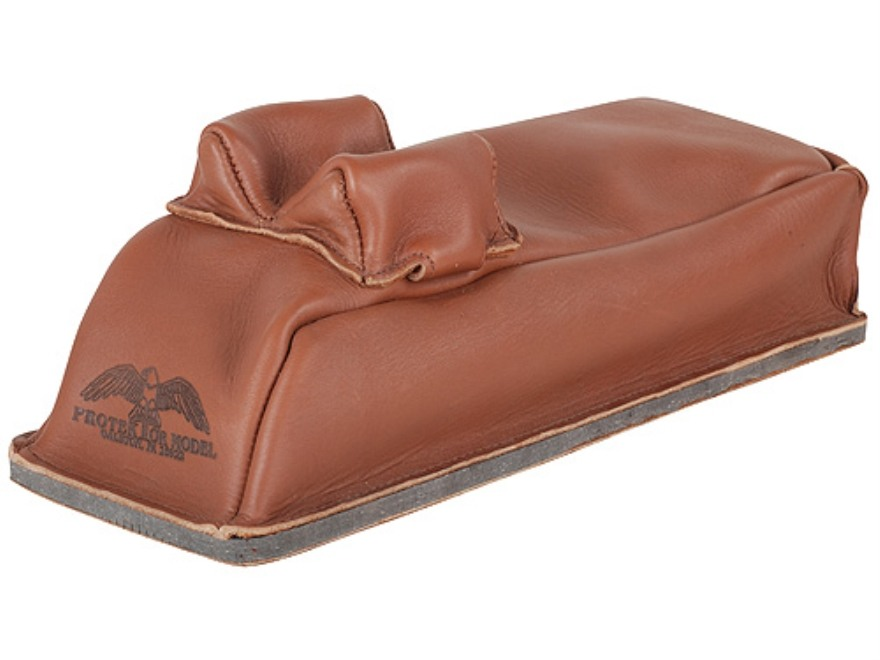 Protektor Bunny Ear Loaf Rear Shooting Rest Bag Leather Tan Filled