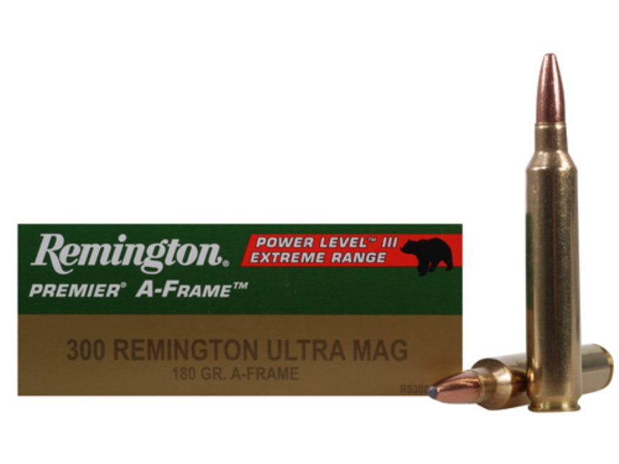 Remington Premier Ammunition 300 Remington Ultra Magnum 180 Grain Swift A-Frame Pointed...