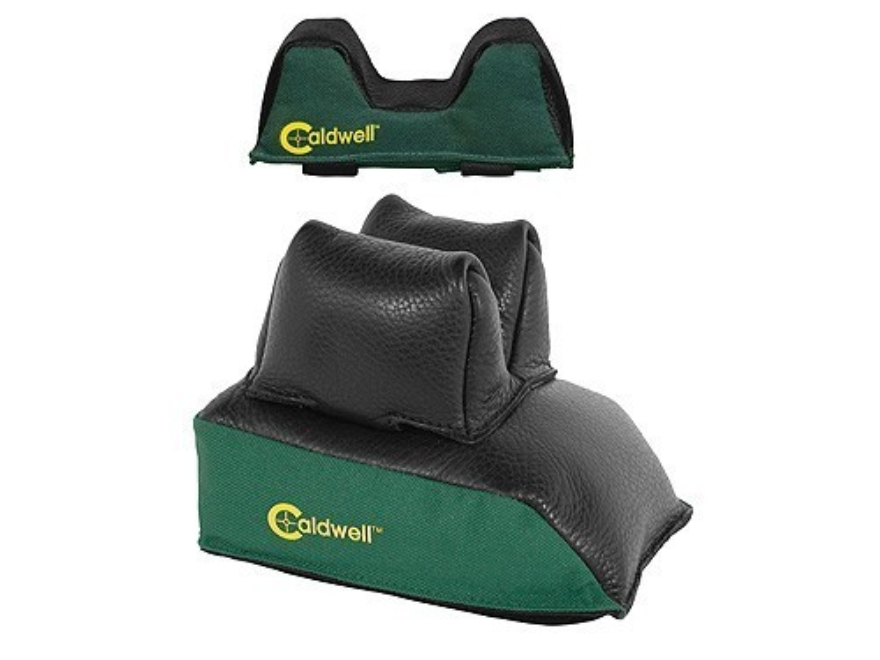 Caldwell Universal Deluxe Front and Rear Shooting Rest Bag Set Medium Nylon and Leather...