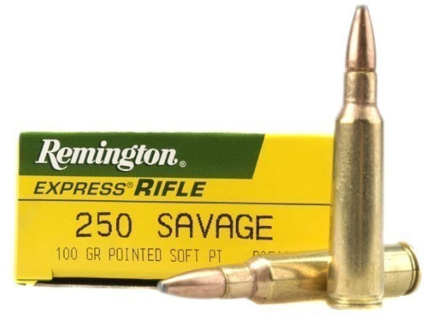 Remington Express Ammunition 250 Savage 100 Grain Pointed Soft Point Box of 20