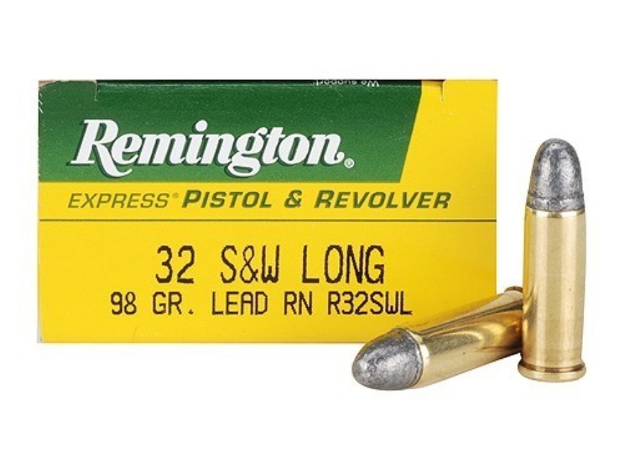 Remington Express Ammunition 32 S&W Long 98 Grain Lead Round Nose Box of 50