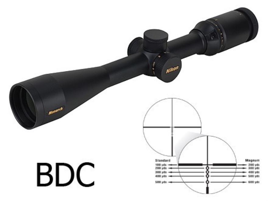 Nikon Monarch Rifle Scope 4-16x 42mm Side Focus BDC Reticle Matte