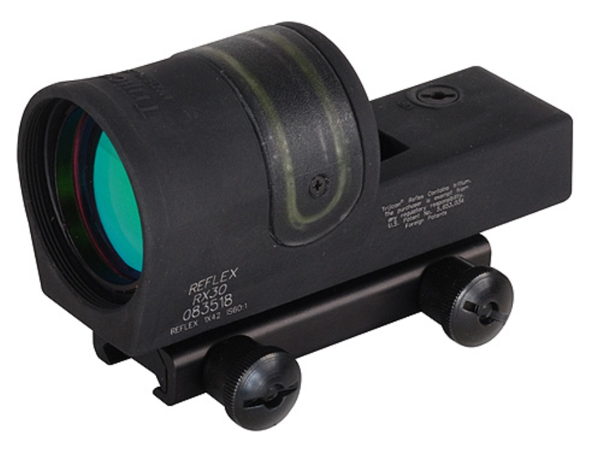 Trijicon RX30A-51 Reflex Sight 1x 42mm 6.5 MOA Dual-Illuminated Amber Dot with TA51 Mou...