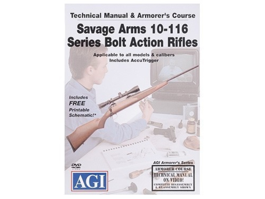 "American Gunsmithing Institute (AGI) Technical Manual & Armorer's Course Video ""Savage ..."