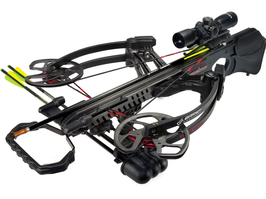 Barnett Vengeance Crossbow Package with 3x 32mm Multi-Reticle Scope Black Carbon Fiber ...