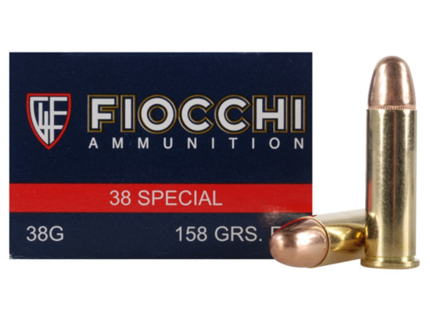 Fiocchi Shooting Dynamics Ammunition 38 Special 158 Grain Full Metal Jacket Box of 50