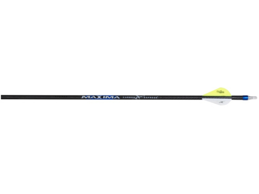"Carbon Express Maxima Blue Streak 350 Carbon Arrow 2"" Blazer Vanes Black Pack of 12"