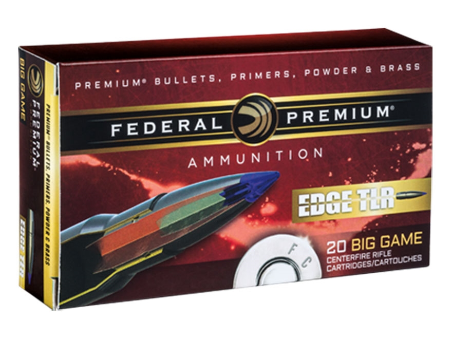 Federal Premium Edge TLR Ammunition 300 Winchester Magnum 200 Grain Polymer Tipped Bond...
