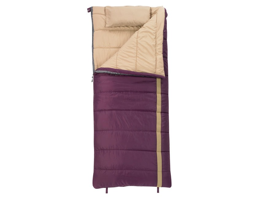 Slumberjack Women's Timber Jill 20 Degree Sleeping Bag Polyester Potent Purple