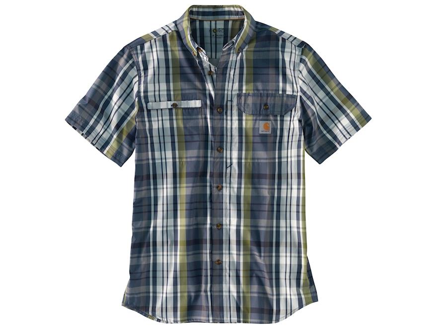 Carhartt Men 39 S Force Ridgefield Plaid Button Up Shirt