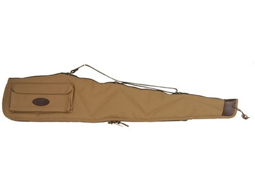 Boyt Signature Scoped Rifle Case with Pocket and Sling Quilted Canvas with Leather Trim