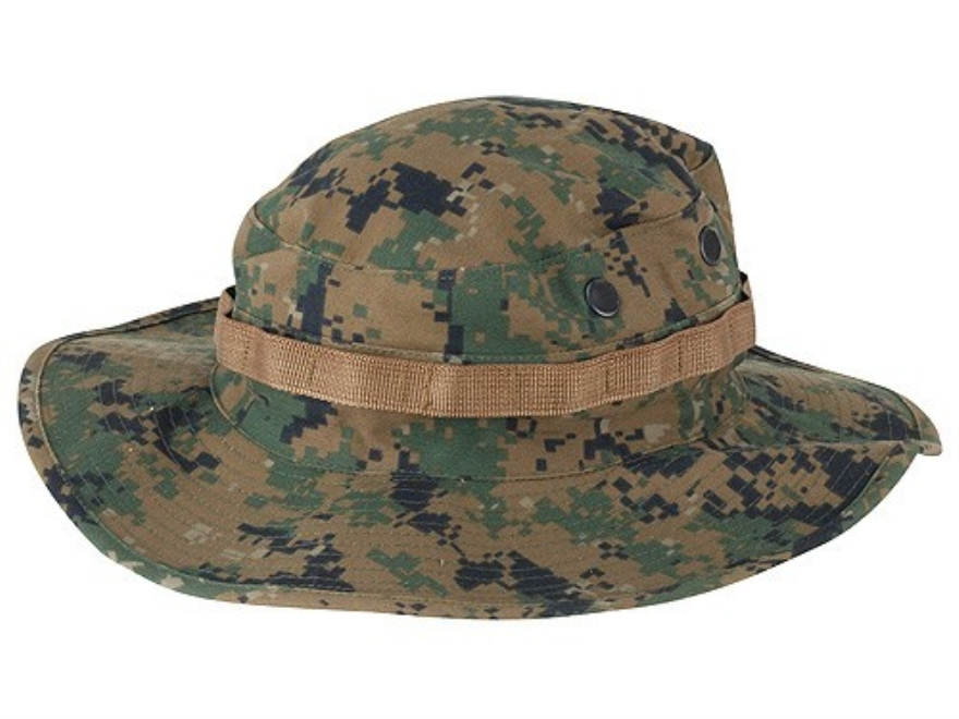 Tru-Spec Boonie Hat Polyester Cotton Twill Woodland Digital Camo 7-1/4